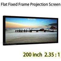 Best фиксированной Рамки проектор Экран 184x78.3 дюймов для просмотра Размеры 80 мм Алюминий L Рамки S для кино театр