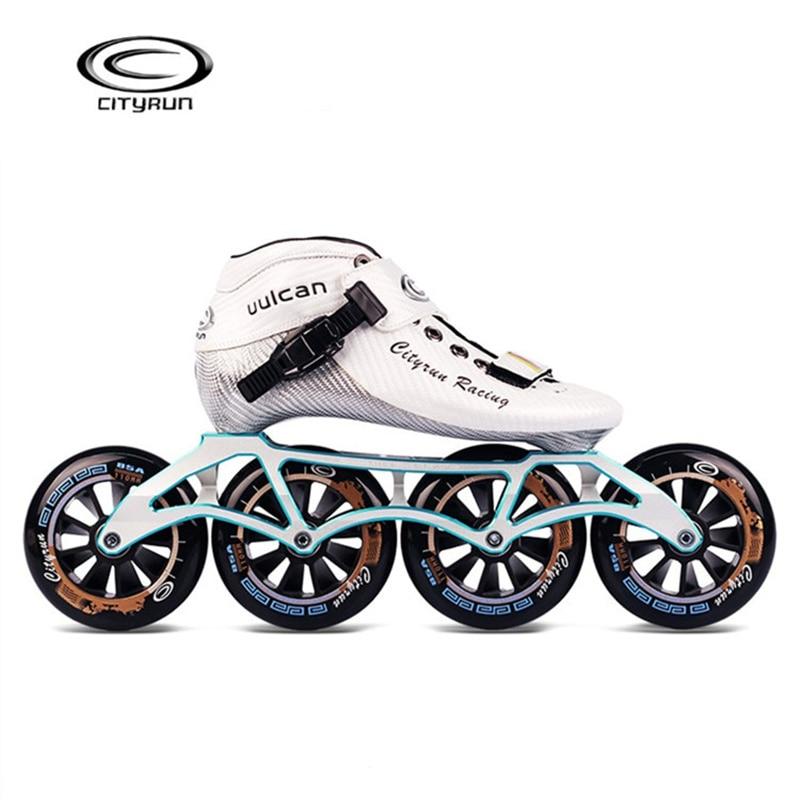 CTS CITYRUN chaussures de patinage de vitesse professionnel 7000 alliage CNC Powerslide 4X110mm 110mm 100mm 90mm 85A patin à roulettes roue de Base CT