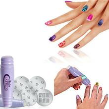 1 Set Nail Stamping Plates Nail Art Printing Stamp Plate Image Plates Finger DIY Manicure Template Tool Sets Y1-5