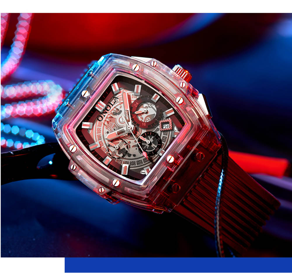 HTB1qnOmXrr1gK0jSZFDq6z9yVXa3 luxury mens wristwatches Transparent quartz waterproof Multifunction man watches square white fashion clocks