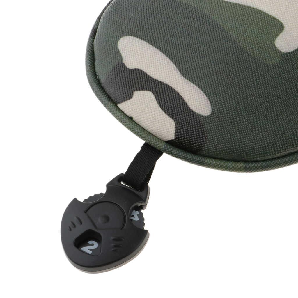 4 stück Austauschbar Einstellbare Tragen Beständig Golf Club Head Covers #1 #3 #5 UT Fahrer Holz Protector geschenk für Familie