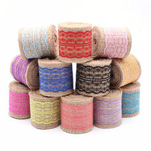 2meter/Roll Colorful Vintage Rustic Wedding Centerpieces Decoration Sisal Lace Trim Jute Hessian Event Party Supplies