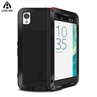 Love Mei Aluminum Shockproof Waterproof Case For Sony Xperia XA XA Ultra Cover Metal Armor Case