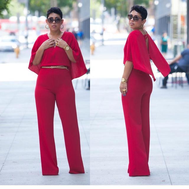 Resultado de imagen de WOMEN PLUS SIZE RED PANT SUIT FALL 2018