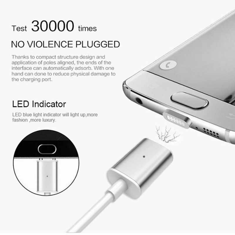 1M Magnetic USB USB for Umidigi S2/Pro Ulefone Power 3s/Future Crystal Blackview BV8000/BV9000/Pro Mobile Phone Magnet Charger
