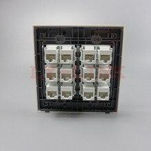 120X120 мм лицевой панели 12 Порта CAT5E rj45 женский женский стены пластины сеть стены пластины поддержки DIY