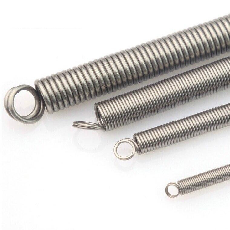 1 x SUS304 8x300mm diâmetro da mola de tensão do aço inoxidável frete grátis