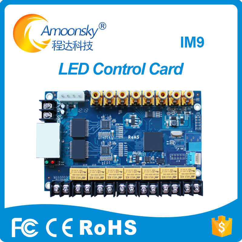 Colorlight iM9 Multifunction Card Temperature Humidity Brightness Sensor Work for Indoor Outdoor Full Color LED Video Display hd 901d full color led control card functional board temperature humidity brightness sensor infrared receiver support module