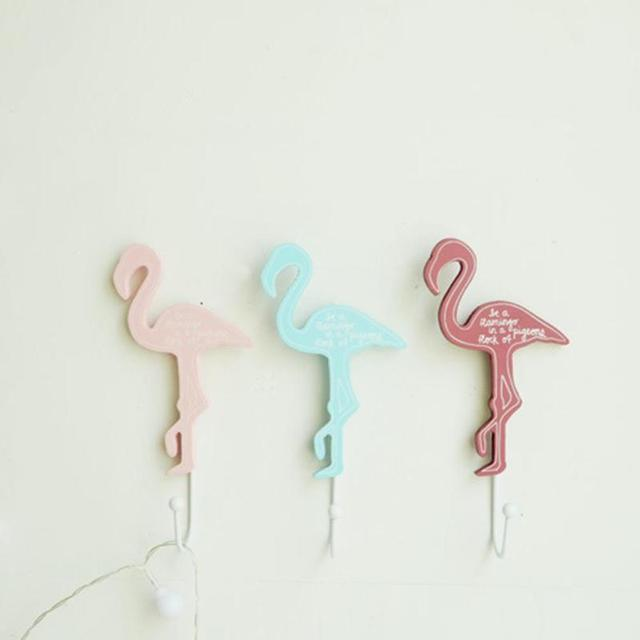 flamingo wooden clothes hook wall decorative hanger hook wall