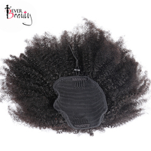 4B 4C Afro Kinky Curly font b Hair b font Ponytails Natual font b Human b
