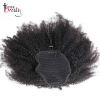 4B 4C Afro Kinky Curly Hair Ponytails Natural Human Hair 100g/Piece Mongolian Human Ponytail Extensions Clip In Remy Ever Beauty