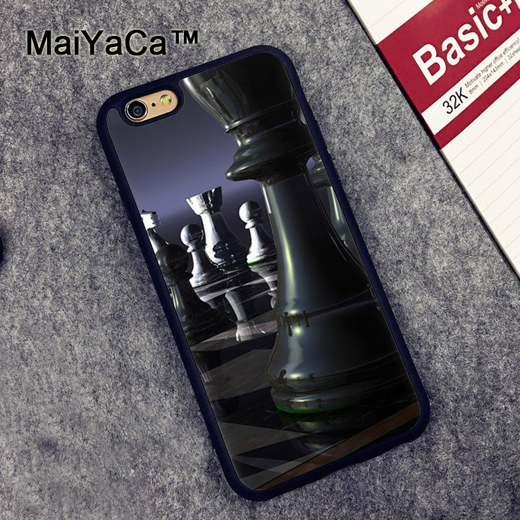 MaiYaCa Chess Strategy Board Game Soft TPU Cases for iPhone 6 6s Case Back Cover for Apple iPhone 6 6s Mobile Phone Capa