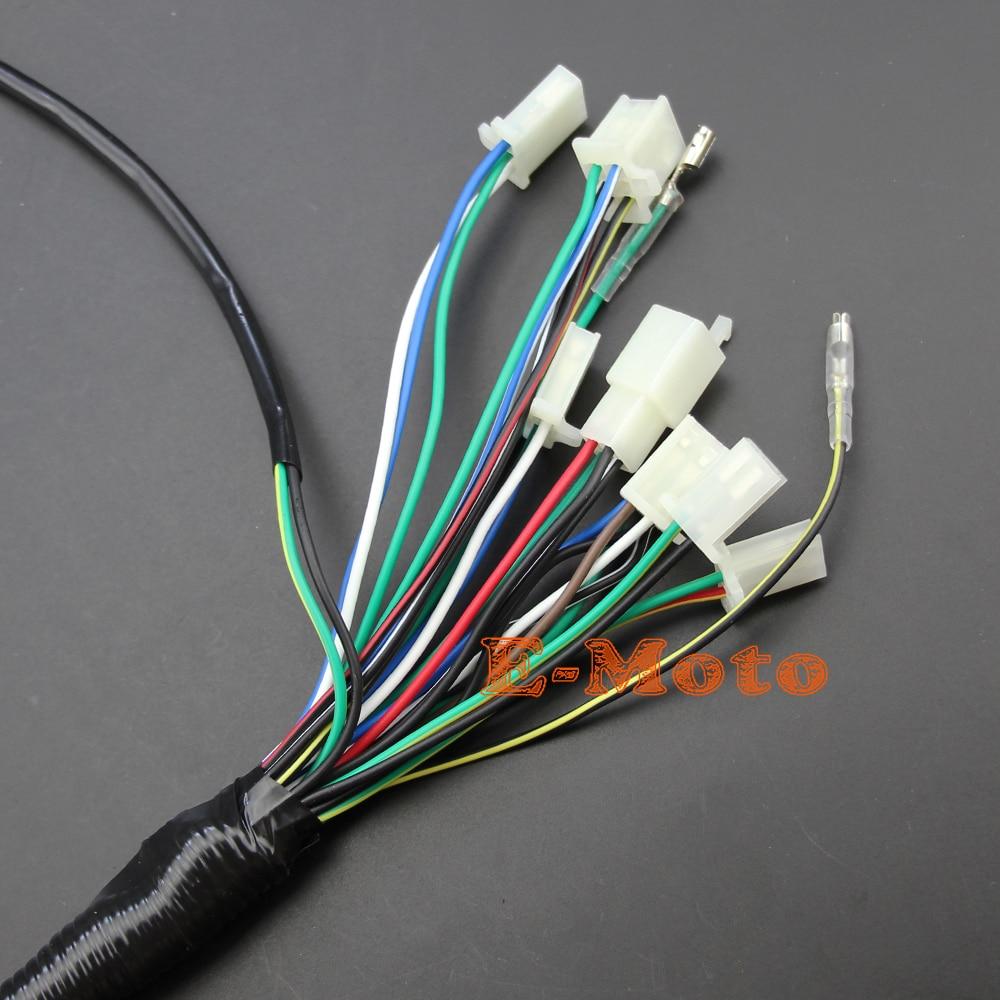 full electrics wiring harness coil cdi spark plug kits for 50cc 70cc 90cc 110cc 125cc 140cc atv quad pit dirt bike buggy go kart in motorbike ingition from  [ 1000 x 1000 Pixel ]