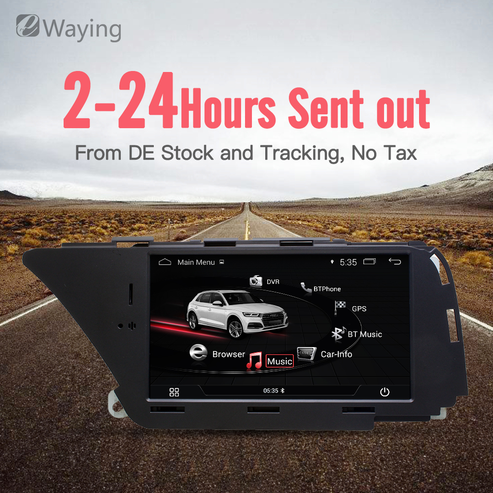Ewaying 7 Android 4.4 1g + 16g Voiture Multimédia pour AUDI A4 S4 A5 S5 (2008 -2016 B8) q5 (2010-2016) Bluetooth gps navigation