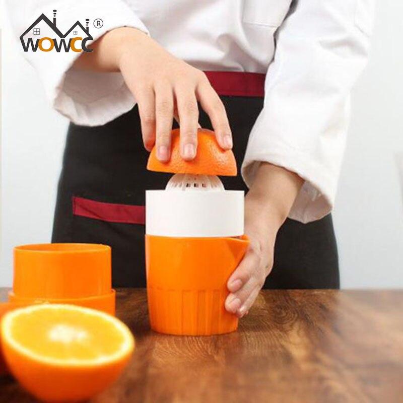 WOWCC Portable Manuel Citron Presse-agrumes Mini Jus de Fruits Hand Press Citron Orange Citrus Squeezer Grande Capacité presse-Citron