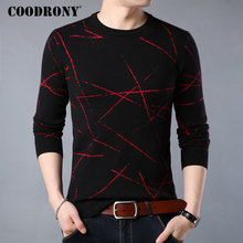 COODRONY Mens Sweaters 2018 New Winter Thick Warm Christmas Sweater Men Casual O Neck Pull Homme
