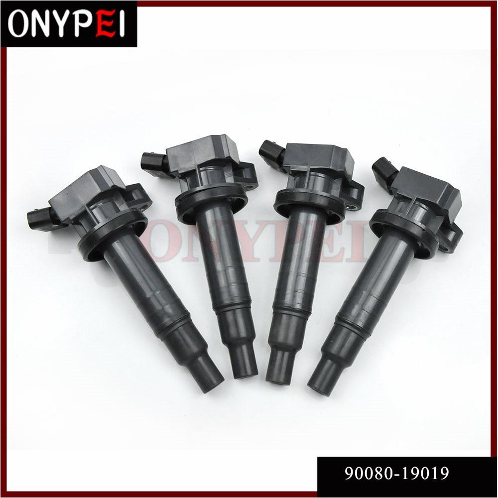 4x 90080 19019 Ignition Coil 90919 02239 90919 T2002 For Toyota Celica Corolla Matrix 1 8