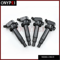 4x 90080-19019 Ignition Coil 90919-02239 90919-T2002 สำหรับ Toyota Celica Corolla Matrix 1.8 Rav4 Yaris MR2 9091902239 9008019019