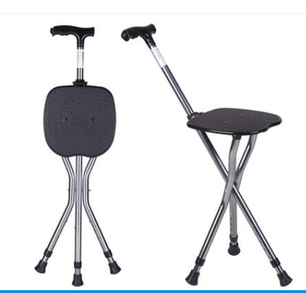 Brilliant Us 45 82 30 Off Three Legged Folding Walker With Four Legged Cane Chair Stick Oxygen Elf Man Walking Stick Chair Helps Walker Wear Old Cane In Pabps2019 Chair Design Images Pabps2019Com