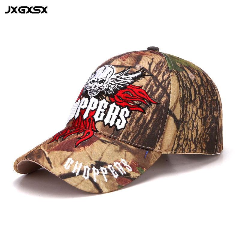 [JXGXSX] 2017 Outdoor Camouflage Skull Head Embroidery Baseball Cap Jungle Training Sport Caps Desert Men Women Hats Casquette jungle new outdoor men s recreational fishing hunting baseball cap bionic camouflage