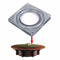4 Inch Square Rotating Swivel Plate Replacement Metal Bearing Turntable TV Rack Desk Seat Swivel Plate Bar Tool
