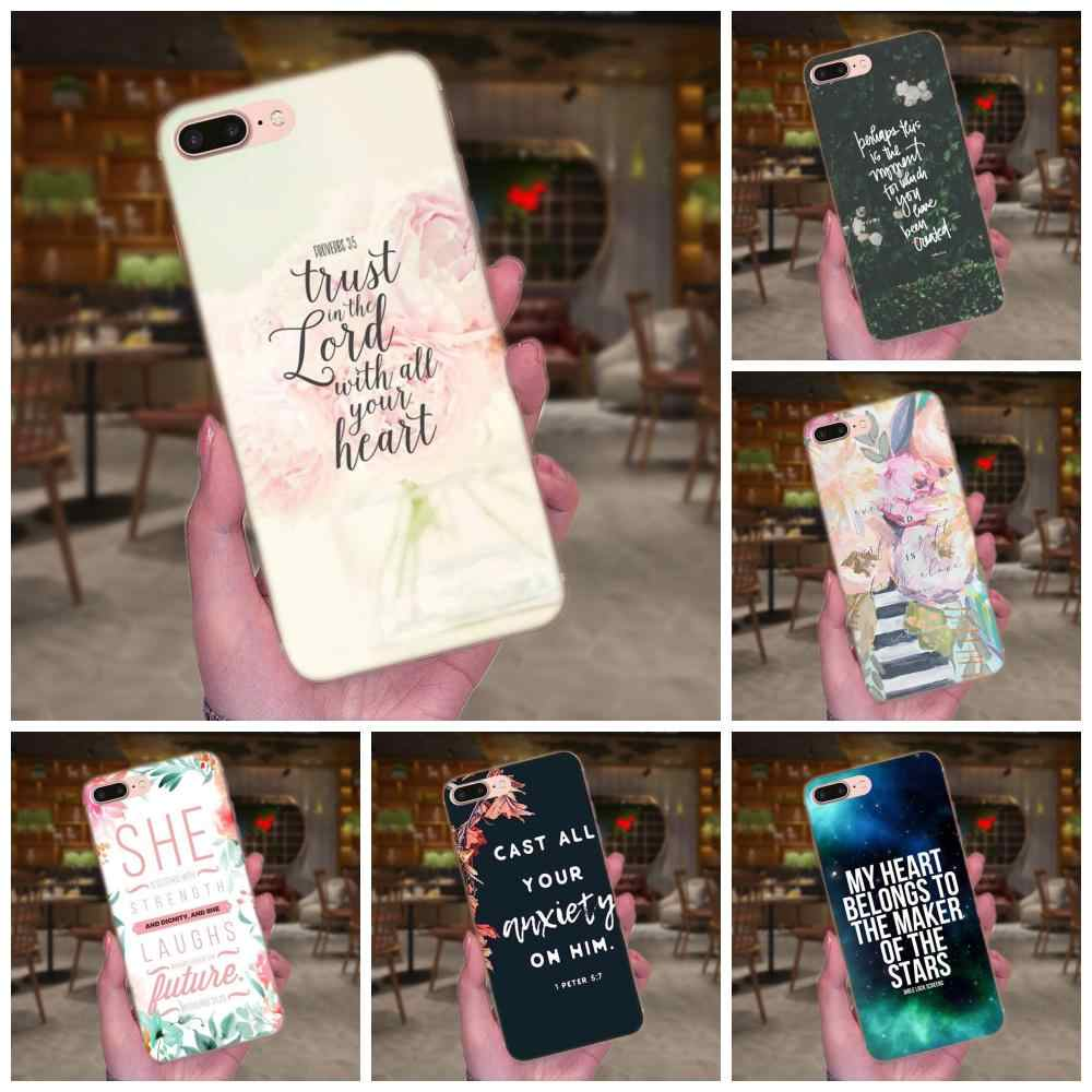 Telefoon Case Cover Voor Apple iPhone 4 4 S 5 5C 5 S SE 6 6 S 7 8 Plus X XS Max XR Christian Inspiratie Bijbel Quotes Vers Jezus
