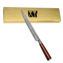 Handmade Damascus font b Knife b font Set High Quality Japanese VG10 Damascus Steel 8 Slicing