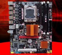New  motherboard x58 motherboard with USB3.0 port support ecc ram  LGA 1366 DDR3 ATX mainboard  Free shipping