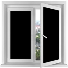5m Black Matte Glue free Privacy opaque Window Film 100% Blackout Anti-UV Static Glass Sticker Bedroom Door Home Decorative