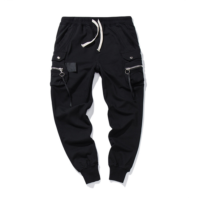 24a29f1717c296 Man black cargo jogger sweatpants -in Skinny Pants from Men's ...