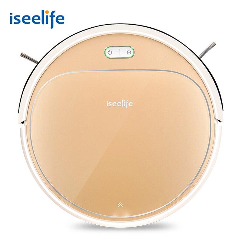 ISEELIFE 1300PA Smart Roboter-staubsauger 2 in 1 für Hause Trocken Nass Wasser Tank Auto Ladung PRO3S für pet Reinigung Haar