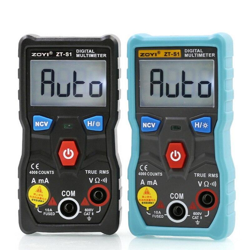 -S1 multímetro digital tester autoranging verdadeiro automotriz mmultimetro com luz de fundo lcd de dados ncv inteligente +
