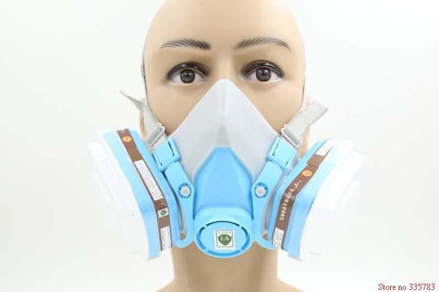 YIHU respirador máscara de gas 7 una combinación mejorado filtro de carbón máscara de pesticidas de pulverización de pintura proteger respirador máscara de polvo de humo