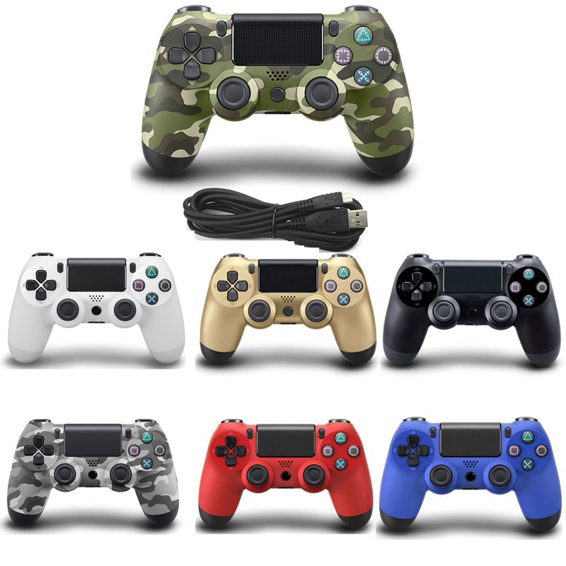 Cable USB Gamepad para Playstation Sony PS4 controlador Joystick Joypad Controle para PC Win 7/8/10 PS3 consola con Cable USB