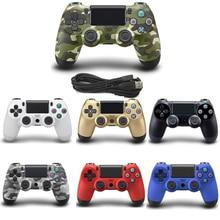 USB проводной геймпад для Playstation sony PS4 контроллер Джойстик пульта для PC Win 7/8/10 для PS3 консоли с USB кабель