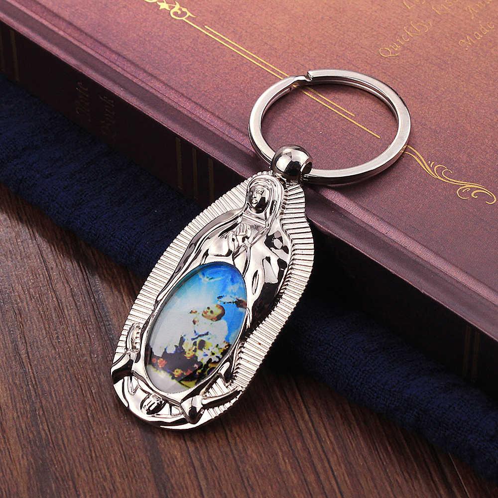 Vicney религиозный стиль клипер для ногтей брелок из смолы материал христианская Святая Мать Святой сын брелок для полных лет ребенка подарок