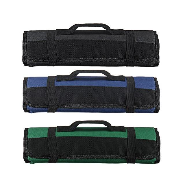 3 צבע בחירה שף סכין תיק רול תיק נרתיק תיק מטבח בישול נייד עמיד אחסון 22 כיסים שחור כחול ירוק