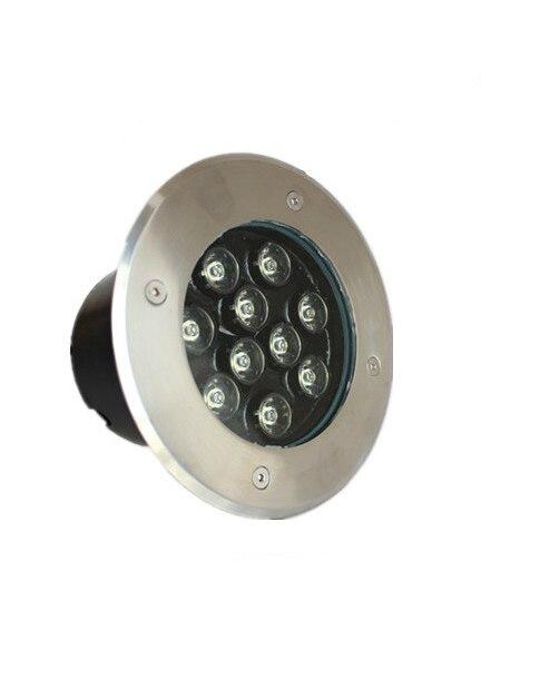 20 шт./лот IP67 Epistar высокого Мощность 9 Вт светодиодный круглый лампа для вкапывания в землю AC85V-265V
