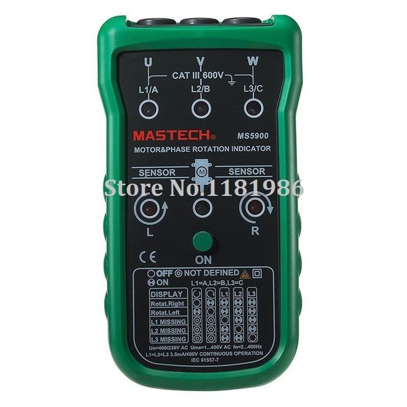 MASTECH MS5900 testeur de séquence de moteur numérique testeur d'indicateur de Rotation de moteur à 3 phases