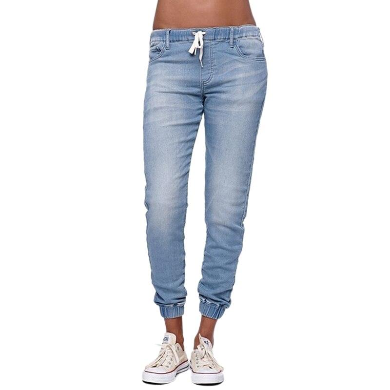 Tubo 2018 Más Otoño Nuevos Pantalones Alta Negro Mujer Longitud De Sueltos Tamaño azul Ccowboy Vintage 6xl Jeans azul Cielo Completa Cintura 5xl qrSrt6