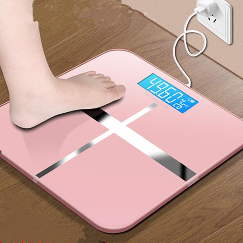 Горячие USB зарядка весы ЖК-дисплей Электронный умный баланс тела точные медицинские личные весы