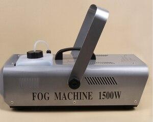 Control remoto y de cable de la mejor calidad, máquina de humo de 1500W, máquina de niebla para escenario, generador de humo para pulverización de líquido de aceite, 1500W, nebulizador
