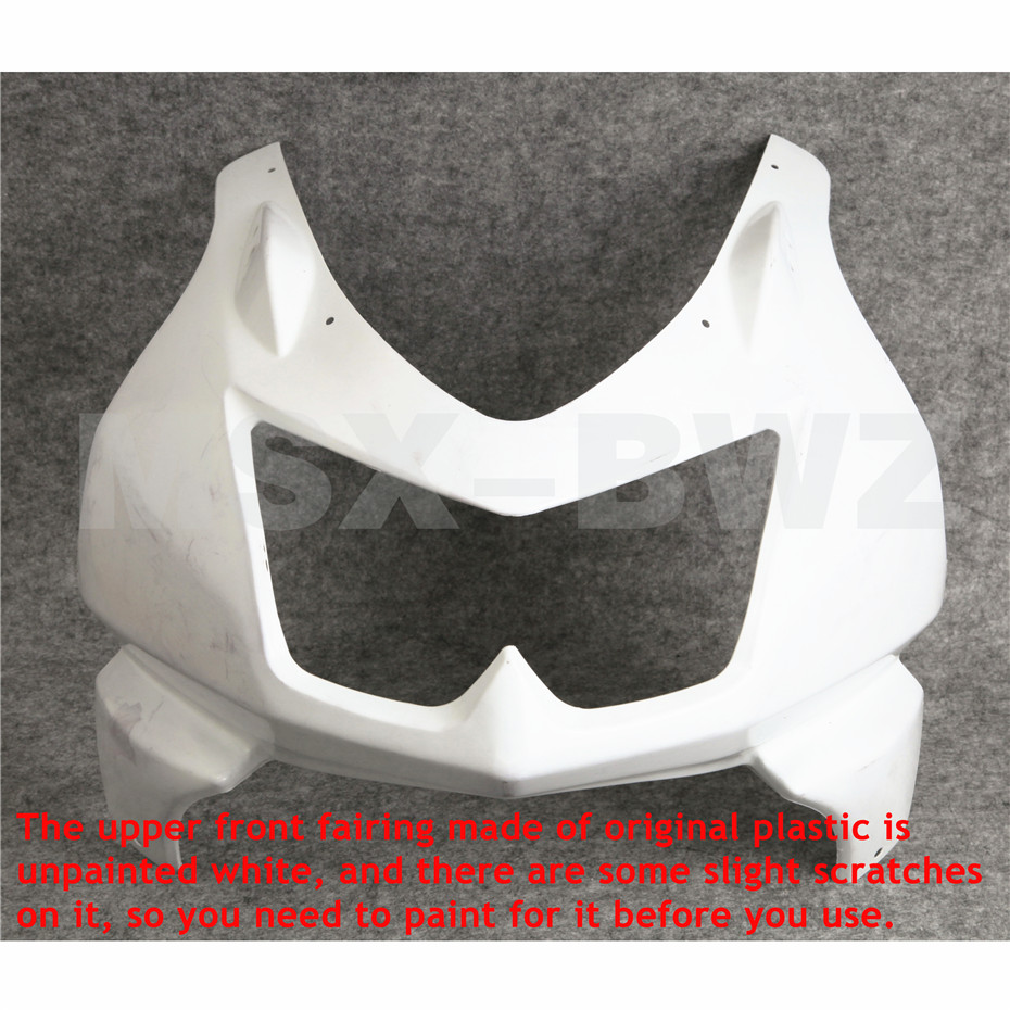 For Kawasaki Ninja EX250 250R 08-12 2010 2011 Unpainted Motorcycle Upper Front Fairing Cowl Nose 2008 2009 2012 free shipping