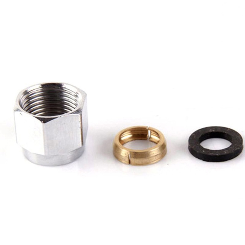 "5 Pcs 1/2"" Gas Cap Stainless Steel Quick Tube Cap Stainless Steel Bellows Quick Access Nuts Structural Disabilities"