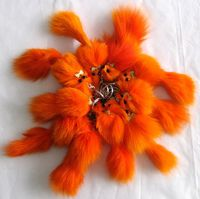 Free Shipping Free Shipping Small Fox Keychain For Mobile Fur Colors Natural Fox Fur