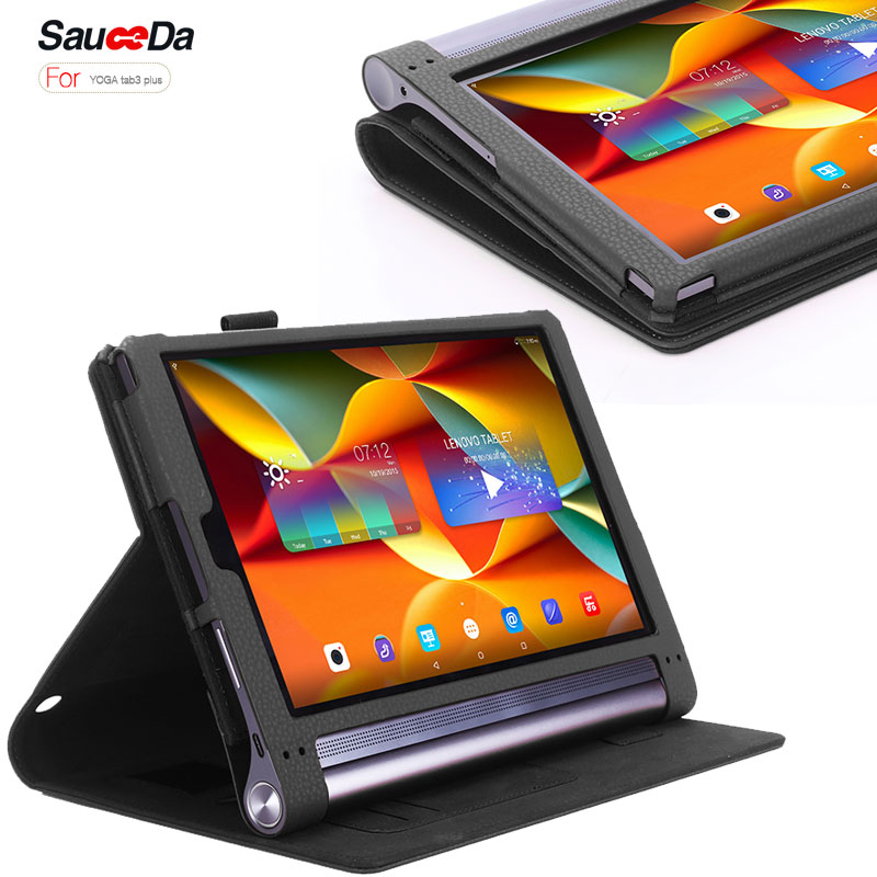 For Lenovo Yoga Tab 3 Plus x90 X90f Case PU leather Stand Cover Tablet Case For Yoga Tab 3 Plus 10.1 Flip Hands Holder Wallet ultra thin smart flip pu leather cover for lenovo tab 2 a10 30 70f x30f x30m 10 1 tablet case screen protector stylus pen