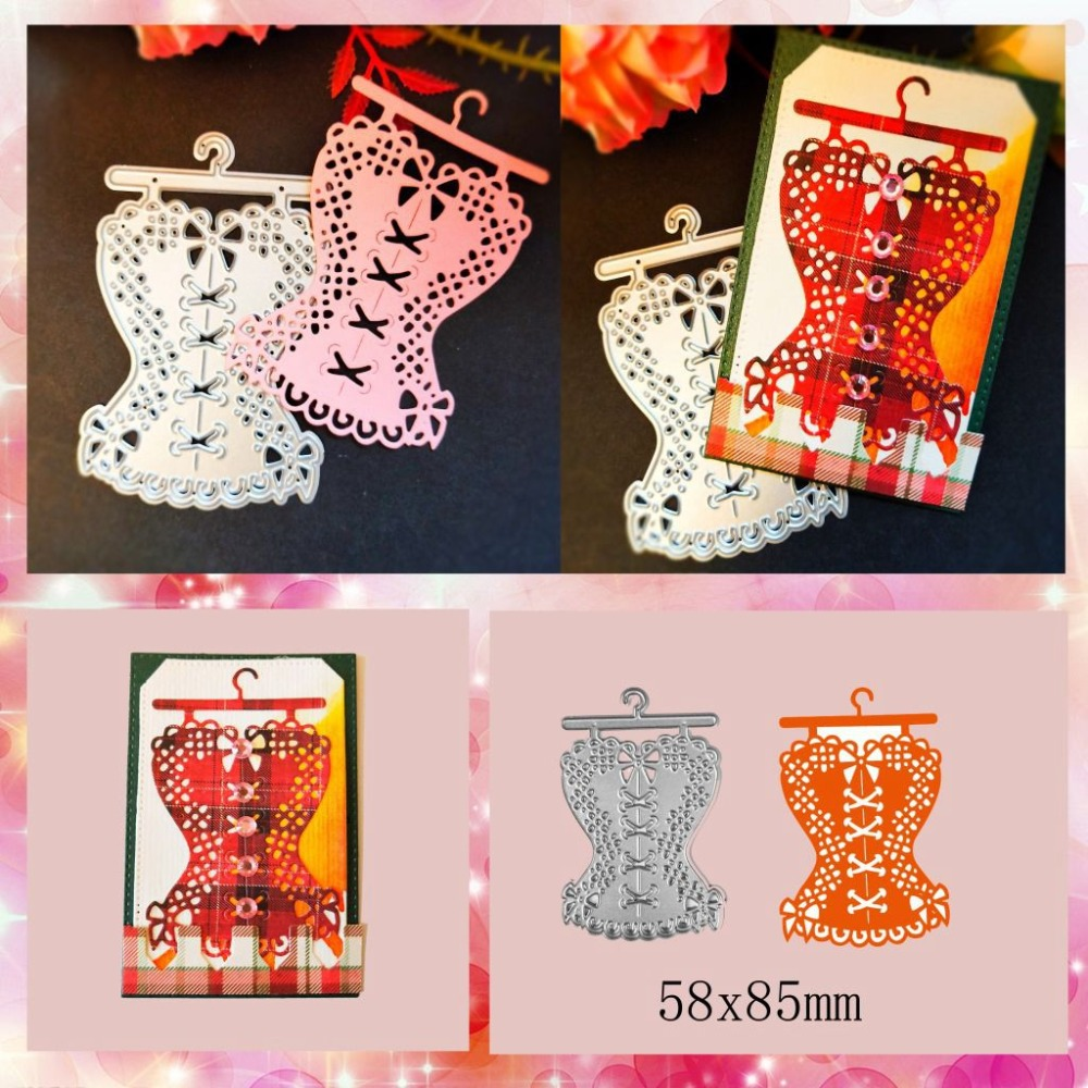 Lace Clothes Metal Cutting Dies for Scrapbooking DIY Album Embossing Folder Paper Cards Maker Template Decor Stencils Craft Dies in Cutting Dies from Home Garden