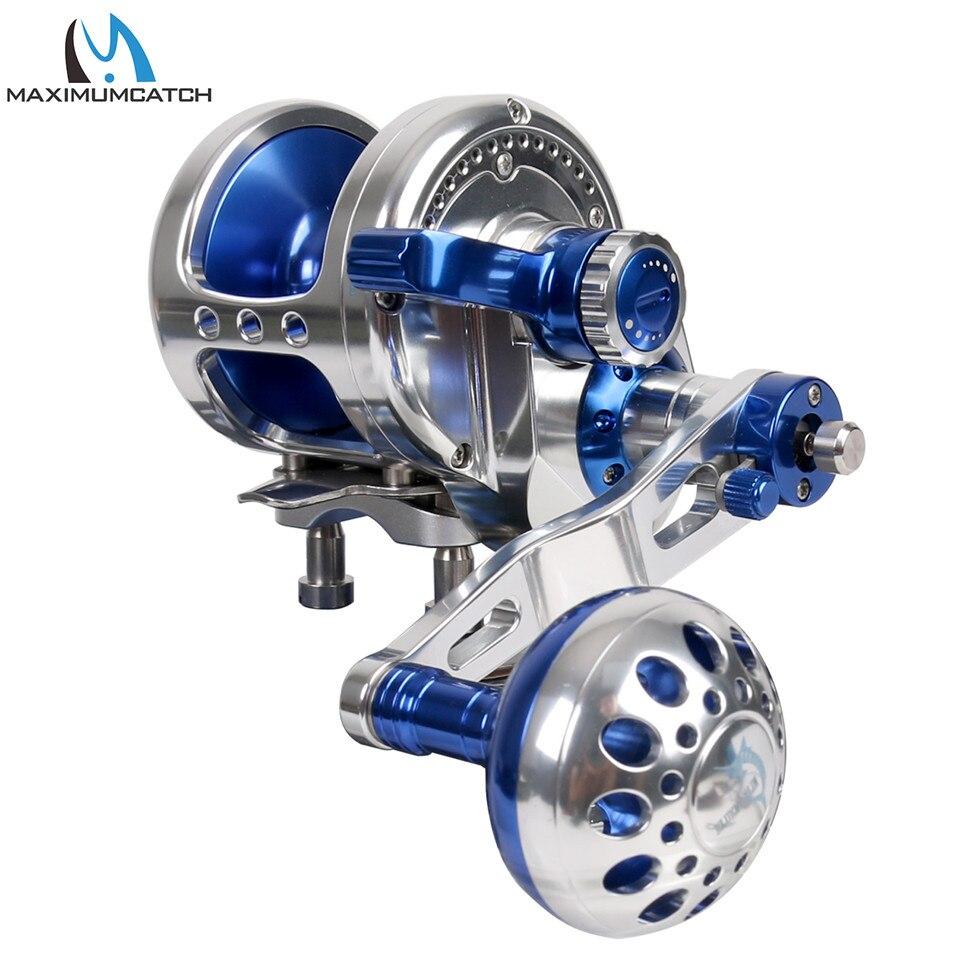 Carrete de aluminio mecanizado CNC, carrete de mano derecha izquierda, carrete de arrastre máximo 10 kg-19,5 kg carrete de pesca