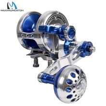 Maximumcatch Aluminum CNC Machined Trolling Reel Left Right Hand Jigging Reel Max Drag 10kg 19.5kg Fishing Reel