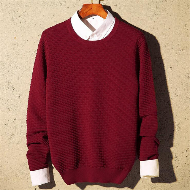 Aliexpress.com : Buy Mens Red Sweaters Knitted Pullovers Homme ...